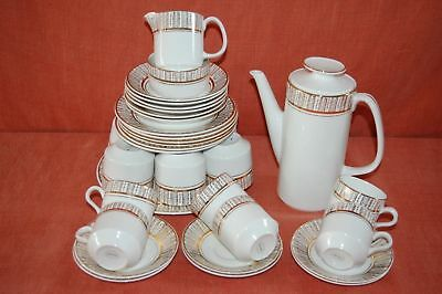 Arklow Pottery 34 Piece Gilded Tea & Coffee Set