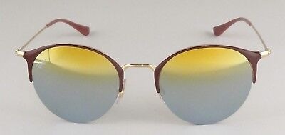 a7acf6c014 Ray Ban Light Brown Round Gold Green Gradient Mirror Sunglasses Rb3578 9011  a7