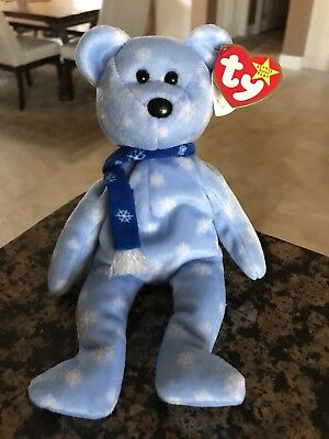 TY Retired 1999 Holiday Teddy Beanie Baby Made in China P.E. Pellets