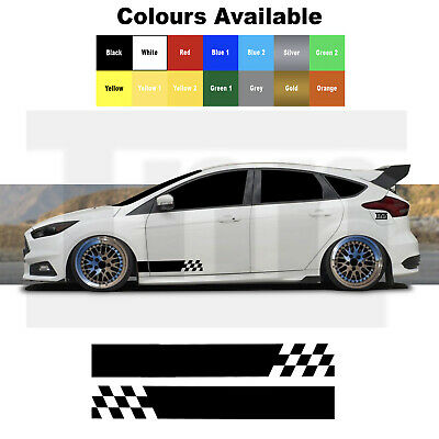 Side Stripe Graphics Ford Focus Fiesta Escort ST RS Car Decals Stickers Vinyl