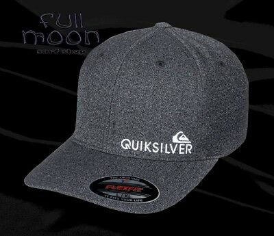 new style a5a19 d8fda New Quiksilver Sidestay Flexfit Mens Cap Hat