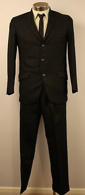 SMALL, SHORT,ORIGINAL  1960s  MENS SINGLE BREASTED SUIT WITH CUFF, SHIRT & TIE.