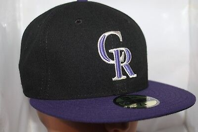 31e320bb6fd MLB COLORADO ROCKIES New Era 59FIFTY Fitted Hat Cap New Mixin Black ...