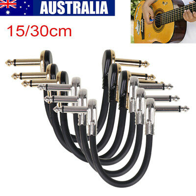 Guitar Effect Pedal Board Patch Cable Cord With Right Angle Plug 15cm/30cm New