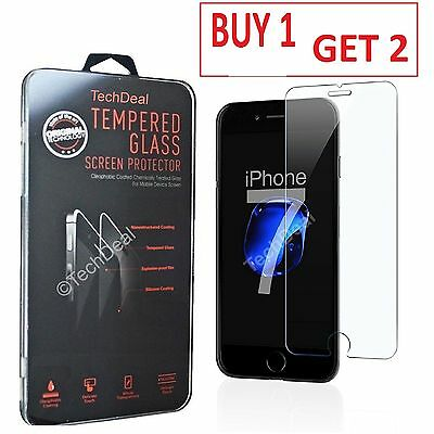 100% Genuine Tempered Glass Film Screen Protector For Apple iPhone 7 - Clear
