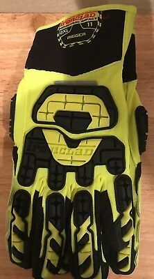 New Ironclad Industrial Impact Rigger Gloves Size 2 X-Large 11 INDI-RIG VIB-RIG