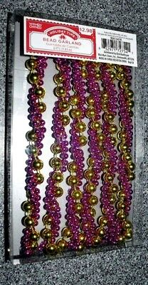 """WEDDING WINE 40/"""" brand new GOLD WIRE BEADED GRAPE CLUSTER GARLAND W// LEAVES"""