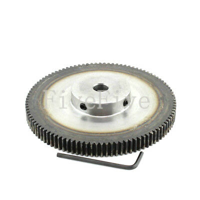 1M80T 8/10/12mm Bore Hole 80T Width 10mm Module 1 Motor Metal Spur Gear+ Screws