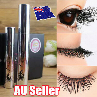 4D Silk Fiber Eyelash Mascara Extension Makeup Black Waterproof Kit Eye Lashes K