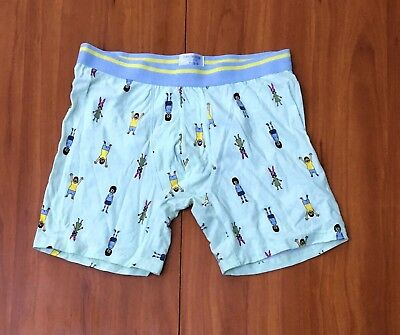 new 🍍BOB'S BURGERS Pineapple Boys Cotton Boxer Briefs Underwear - L, Mint Green