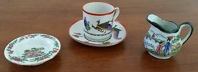 Vintage early 20th Century JAPAN Assorted CHILD Tea Set Pieces CUP SAUCER JUG
