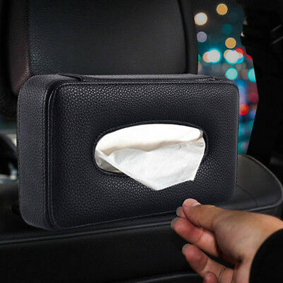 2X Car Back Seat Leather Tissue Paper Holder Tissuer Box Storage Cover Organizer