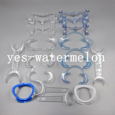 18 Sizes Dental Intra Oral Mouth Opener Cheek Lip Retractor Expanders All Shape