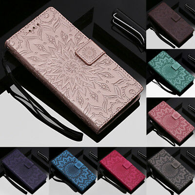 For Huawei Honor 10 9 8 Lite 8A 8X 7S Embossed Pattern Flip Leather Case Cover