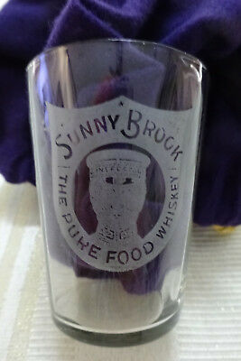 Pre Prohibition Advertising Shot Glass - Sunny Brock