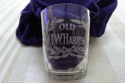 Pre Prohibition Advertising Shot Glass - Old I.W. Harper