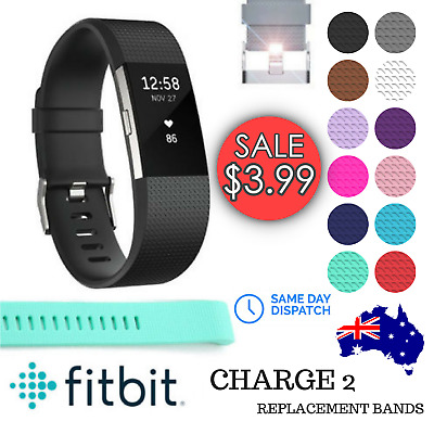 Fitbit Charge 2 Replacement Silicone Watch Band Wrist Sports Strap Wristband
