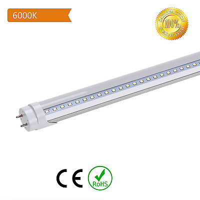 T8 LED Light Tube 4ft Clear Bulbs 18w 6500K G13 Fluorescent Replacement 10 25Pcs