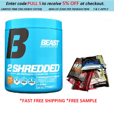 Beast 2 Shredded Tropical Breeze  Fatburner Oxyshred   45Serves Fast Shipping