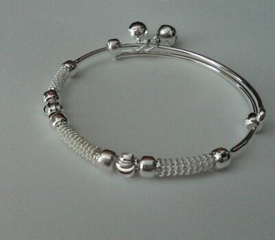Popular Girls Silver Plated Lovely Designed  Adjustable Bangle With Bells