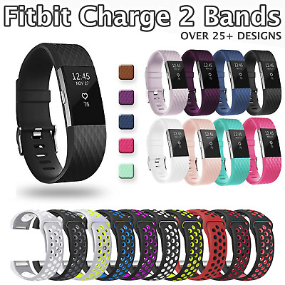 Fitbit Charge 2 Replacement Sports Strap Band Silicone Wrist Watch Fit Bit 2