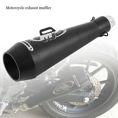 51mm Universal Motorcycle Motorbike Carbon Exhaust Muffler Removable Silencer
