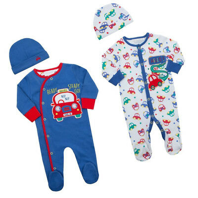 Premature Baby Babytown Boys Prince Sleepsuit Set Including Bib and Hat