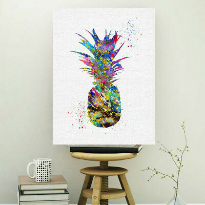 Modern Canvas Print Pineapple Oil Painting Art Unframed Picture Home Wall Decor