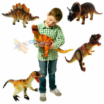 Toy Dinosaur Large Rubber Play Figures Children Stuffed Action Figure For Kid AU