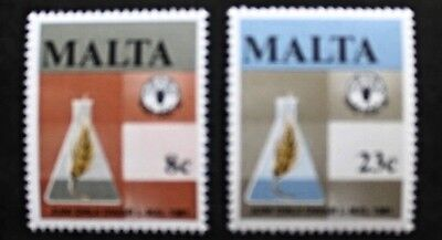 World food day stamps, 1981, Malta, SG ref: 665 & 666, 2 stamp set, MNH