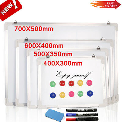 New Magnetic Whiteboard Dry Wipe White Notice Board Memo Office School Home