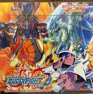 Future Card BUDDYFIGHT Unleash Impact Dragon BFE-D-BT01 FULL BOOSTER BOX