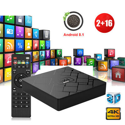 2+16G Android 9.0 Pie RK3229 Quad Core 4K Smart TV BOX Network Media Player WIFI