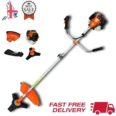 52cc Petrol Power Brush Cutter Grass Trimmer 2,2 kW Garden Lawn Cutting 2-Stroke