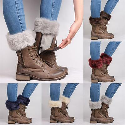 Fashion Women Crochet Knitted Boot Cuffs Winter Leg Warmers Socks Ankle Toppers