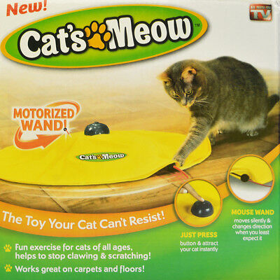 Electronic Interactive Cats Meow Moving Mouse Train Cat's Toys Undercover Fabric