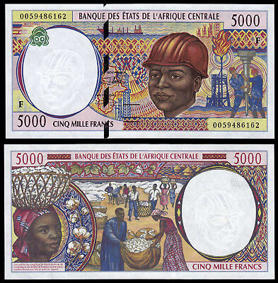 Central African States 5000 Francs (P304F) N. D. (2000) Unc