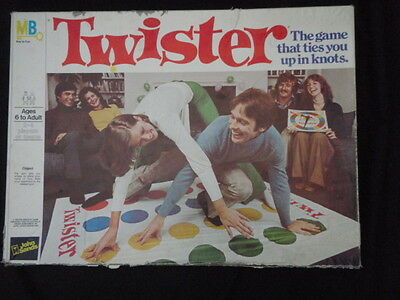 TWISTER Board Game by John Sands  Milton Bradley Vintage 1972