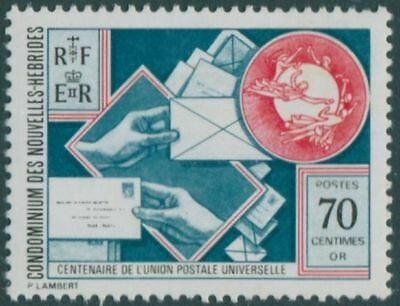 New Hebrides French 1974 SGF210a 70c UPU MLH