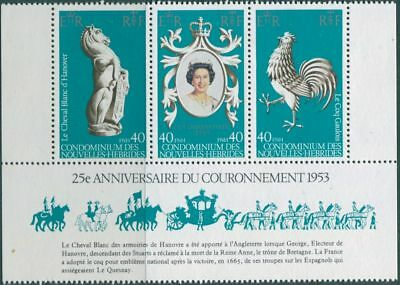 New Hebrides French 1978 SGF276-F278 Coronation set MLH