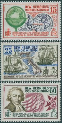 New Hebrides 1968 SG130-132 Bougainville's World Voyage set MLH
