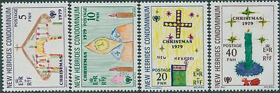 New Hebrides 1979 SG279-282 Christmas set MLH