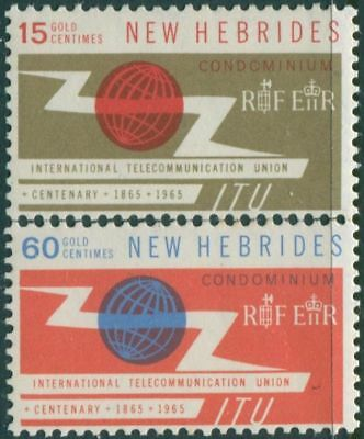 New Hebrides 1965 SG110-111 ITU set MLH