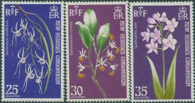 New Hebrides 1973 SG174-176 Orchids MLH