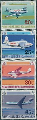 New Hebrides 1972 SG154-157 Aircraft set MLH