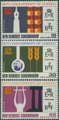 New Hebrides 1966 SG122-124 UNESCO set MLH