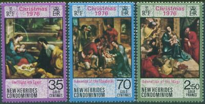 New Hebrides 1976 SG214-216 Christmas set MLH