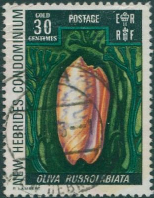 New Hebrides 1972 SG163 30c Red-lip Olive FU