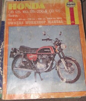 Honda cb 125 200 twin 1964 on haynes manual 900 picclick uk honda cb125 cb160 cd175 cb175 cb200 manual 1964 to 78 fandeluxe Image collections