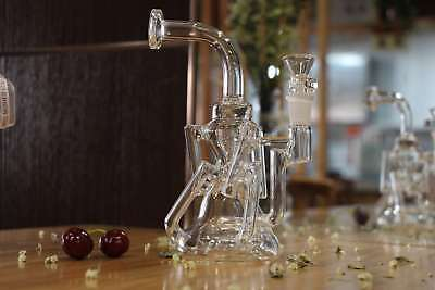 REANICE Small bong glass water pipe 14.5mm 22cm glass bubbler